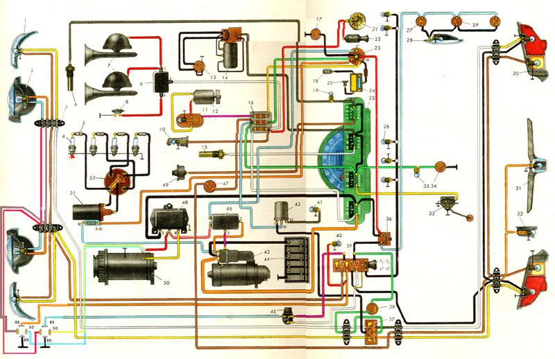 схему электропроводки.